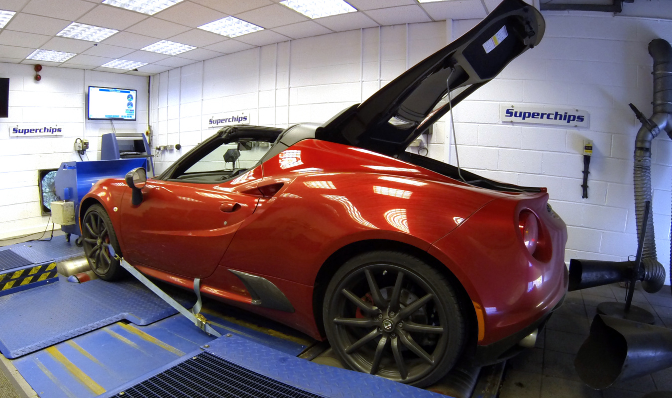 Alfa Romeo 4C on the Dyno at Superchips HQ